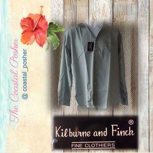 NWT Kilburne & Finch Button Down Dress Shirt